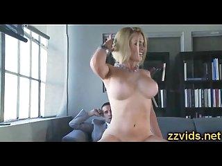 Lovely blonde krissy lynn riding big cock