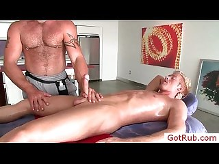 Blondie getting his cock sucked by gotrub