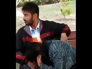 Indian couple blowjob in park