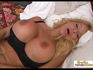 Super busty milf masturbates and gets fucked to an orgasm
