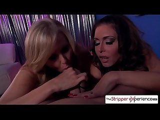 The Stripper Experience - Jessica Jaymes & Julia Ann sucking a monster cock, big boobs and..