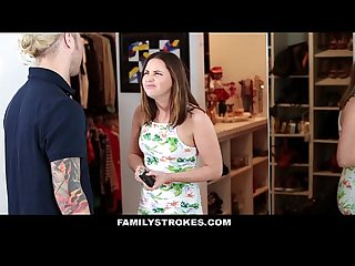 Familystrokes cute step sister gets double penetrated by brothers