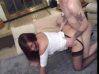 Old mature with lover pantyhose jack