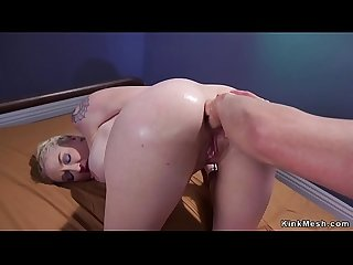 Interrogation officer anal fists busty