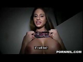 Follando a una amateur tetona culona en privado