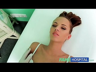 Fakehospital nynpho brunette teen is back in the doctors office