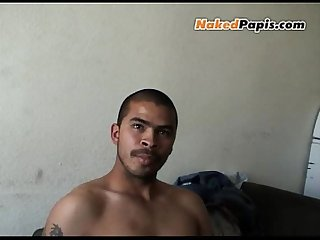 Hot masculine papi with a hot body a a big uncut cock