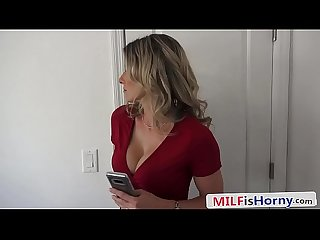 Step Mom Sucks Cock With Husband On The Phone - Cory Chase