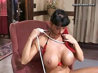 Horny latin milf gets it on