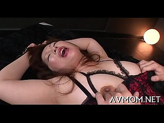 Groaning mommy gets teased