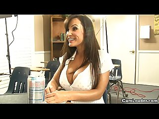 Milf Lisa ann learning spanish with a huge cock in her mouth