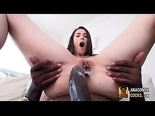 Gigantic massive cock wrecks whore