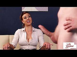 British voyeur instructing masturbating sub