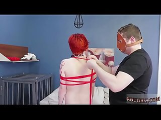 Begs for extreme bondage Analmal Training