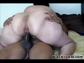 Redbone BBW gets fucked by hard black dick