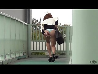 Removing a japanese skirt sexy panties