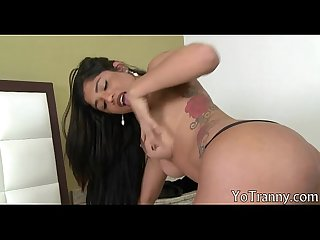 Huge tits shemale fucked in bubble butt