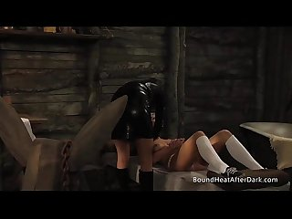 Lesbian madame unchains innocent slave
