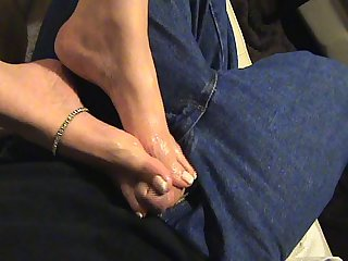 French pedicure footjob with lots of dirty talk