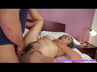 Fat grandma pounded before tasting jizz