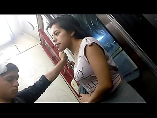 Puchita en el metro rica nenita en pants 2de2
