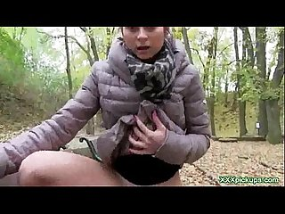 Sexy czech teen girls fucked in public for cash 14
