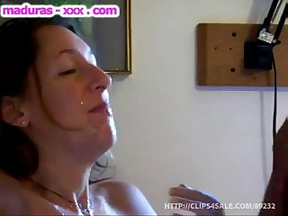 Milf amateur takes a hard dick in her mouth