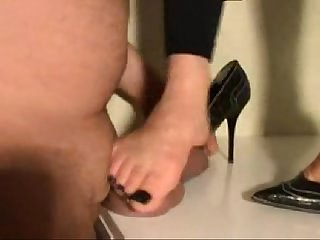 Indian wife trampling her husband s cock with her high heeled stilletos