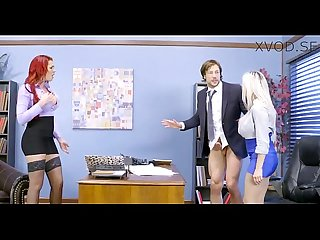 Rachel and skyla share some office cock xvod se