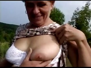 ernestina hairy granny fucking in both holes with facial
