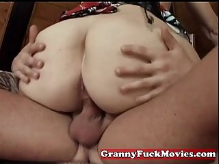 Grandma nailed by horny guy