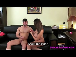 Femaleagent big swinging tits as agent fucked doggystyle