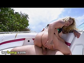 TRYBANG - Captain J-Mac Drops His Anchor In Curvy MILF Ryan Conner's Ass Hole