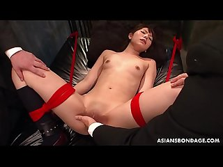 Slavish Asian whore wants her pussy drilled with giant toys