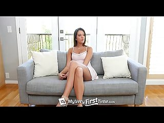 MyVeryFirstTime - Brooke Myers likes her busty pierced nipples sucked before fuc