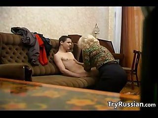 Russian Granny And Her Younger Lover
