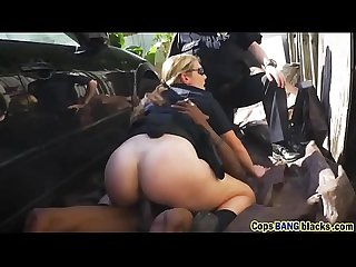 Black dude pounding two hot cops