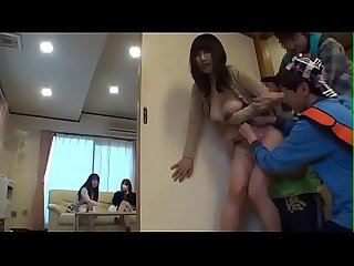 Pretty Asian Japanese MILF get blackmailed by 3 little boys in yoga gym - ReMilf.com