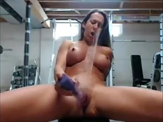 FBB playing in Gym at HardbodyCams.com
