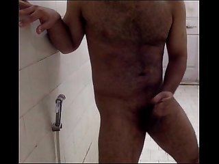 Horny Indian Guy cumming in his bathroom ;) Indian Guy Pornstar (Hotcummerforu)