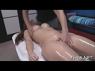 Sexy chick plays with penis then gets nailed hard