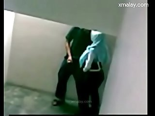 Tudung public sex caught on camera