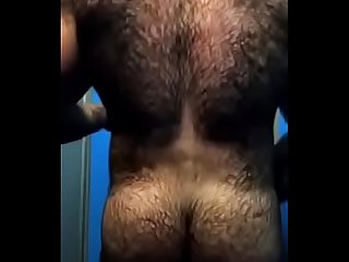 HAIRY BEAST ASS IN SHOWER