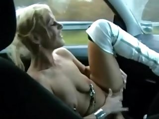Welsh MILF Gets Naked And Fingers Her Pussy In A Moving Car