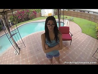 Fucking Glasses - Fucked Chloe Amour for a big money promise