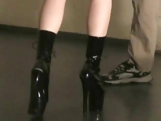 Ballbusting and under heels pov