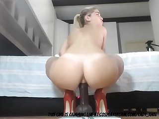German Wife Stretching Her Ass..