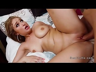Natural busty Latina Milf bangs huge dick