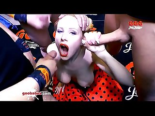 Angel Wicky gets her Big Tits Covered with Cum - German Goo Girls