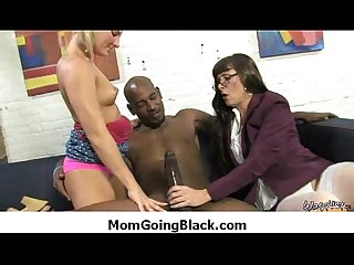 Hot MILF gags and gets banged by a black cock 17